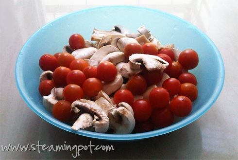 Cherry Tomato and Mushroom Saute
