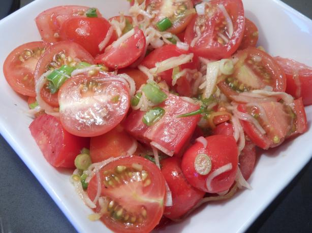 Cherry Tomatoes With Ginger Dressing