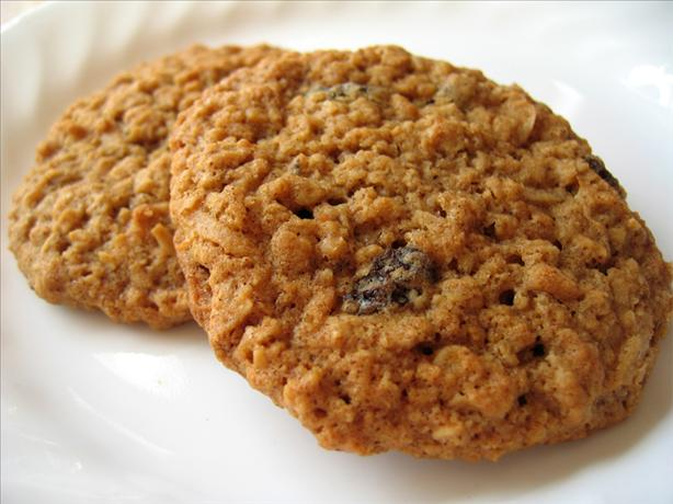 Chewy Evil Oatmeal Raisin Coconut Cookies