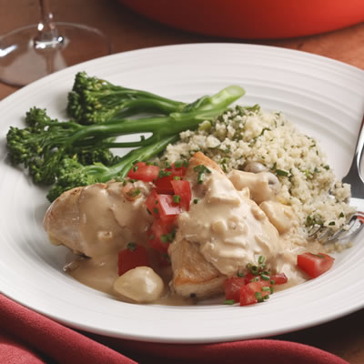 Chicken & Vegetables With Creamy Mustard-Herb Sauce ( Crock