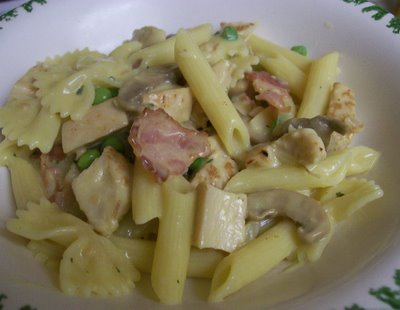 Chicken and Beer Mustard With Pasta