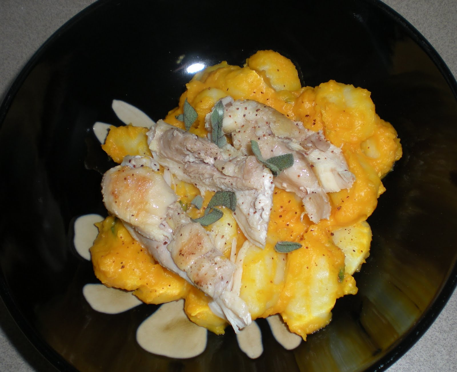 Chicken and Gnocchi with Squash