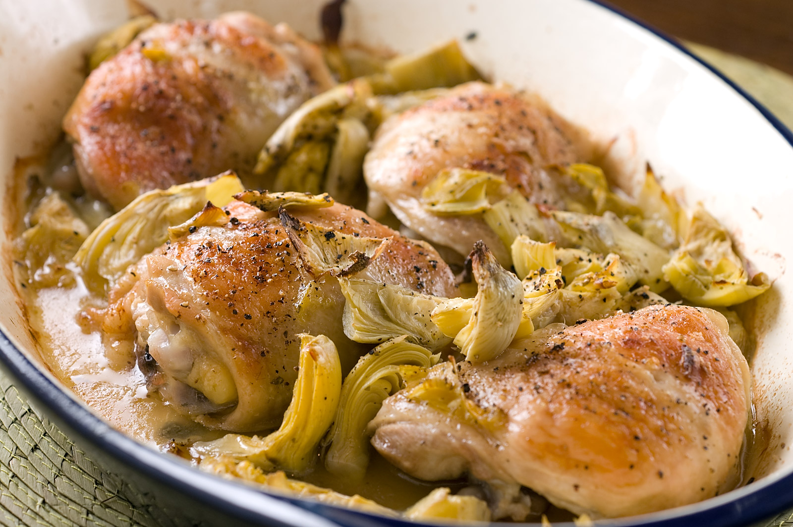 Chicken artichoke bake recipegreat com