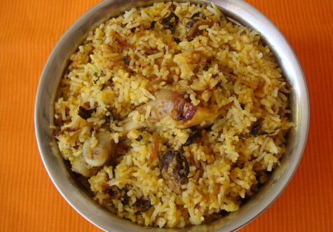 Chicken Biryani, Hyderabadi Style
