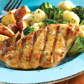 Chicken Breasts with Roasted Lemons