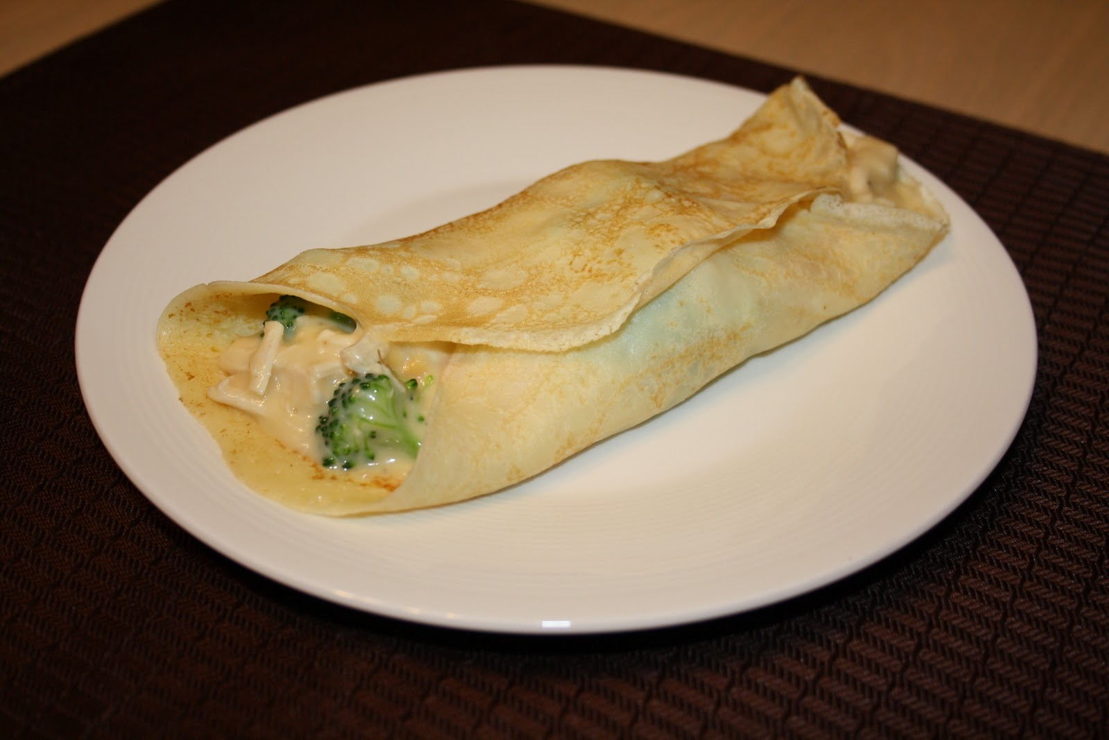 Chicken Broccoli Crepes