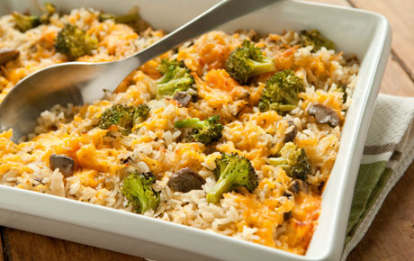 Chicken, Rice, and Broccoli Skillet