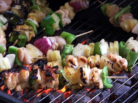 Chicken Shish Kabob With Pineapple Sauce