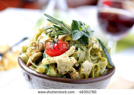 Chicken Spinach Fettuccini