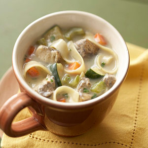 Chicken-Squash Noodle Soup