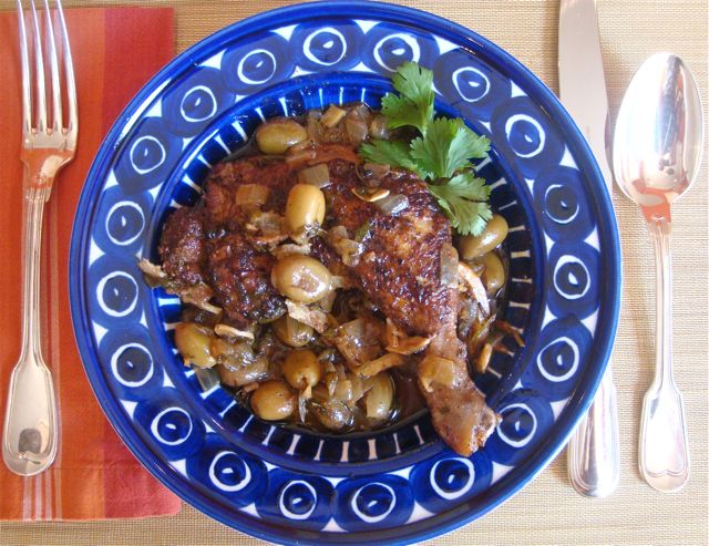 Chicken Tagine With Green Olives & Preserved Lemon