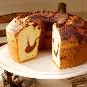 Chocolate-Swirled Pound Cake