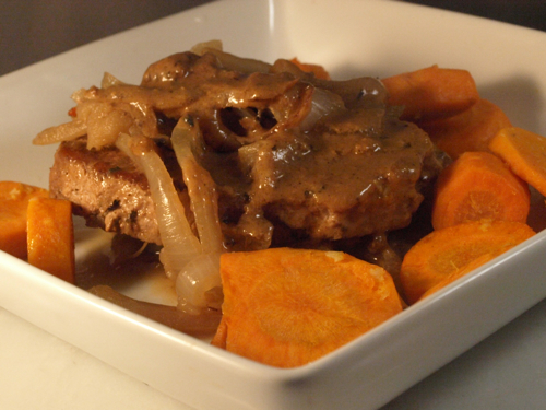 Cider-Braised Pork Chops - Recipegreat.com