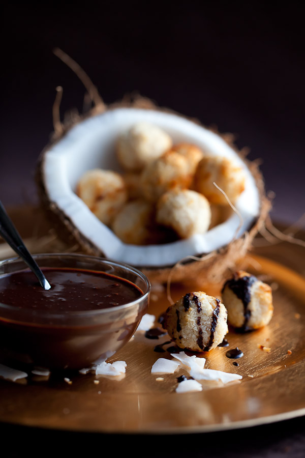 Coconut Macaroons With a Chocolate Topping
