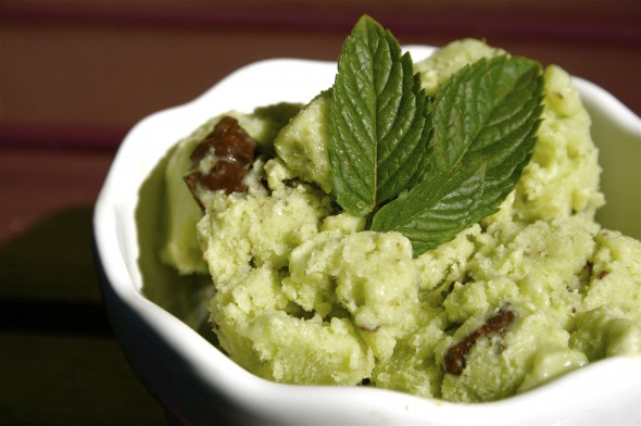 Coconut (Spinach) Ice Cream