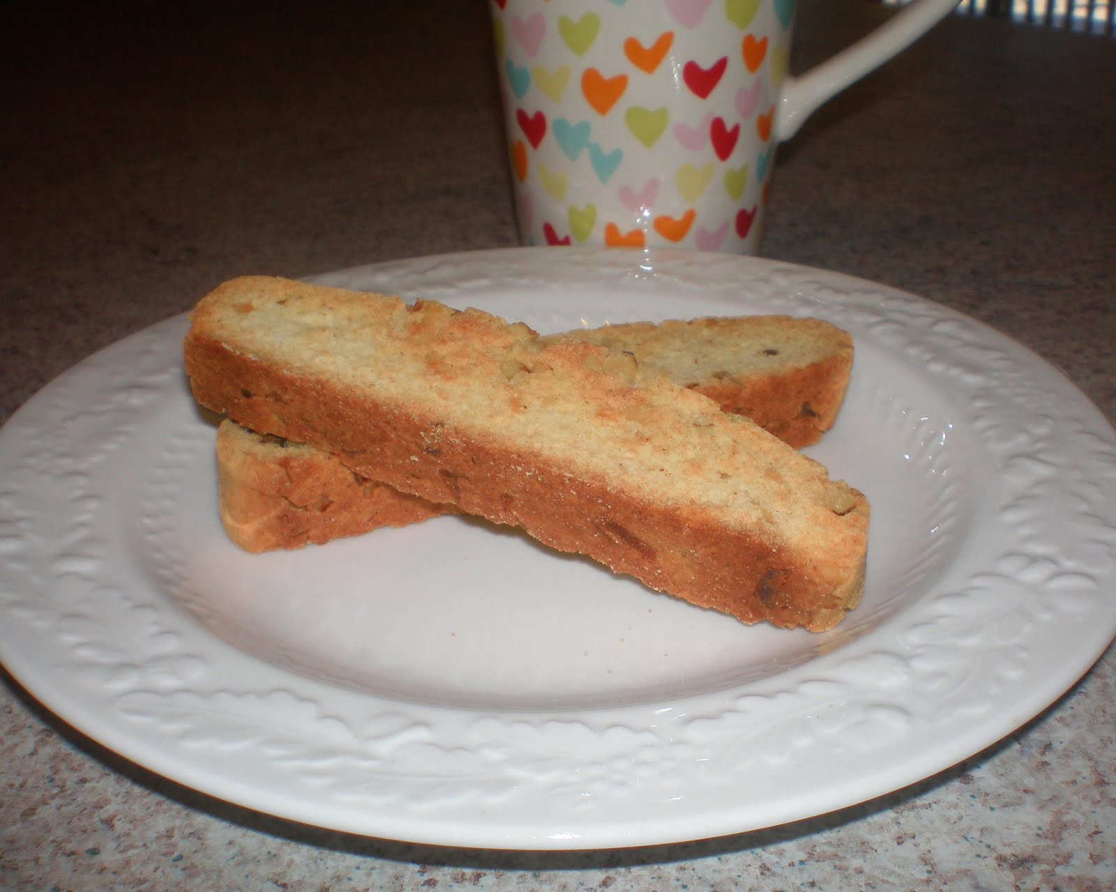 Coconut Walnut Biscotti
