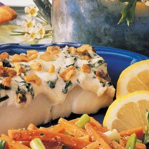 Cod or Haddock Baked in Cream