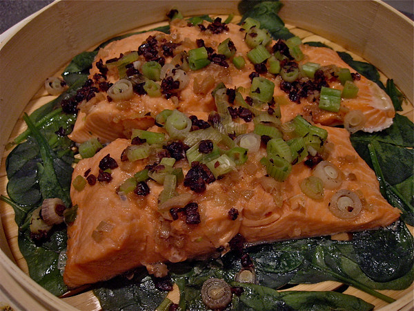 Cod With Fermented Black Beans & Scallions