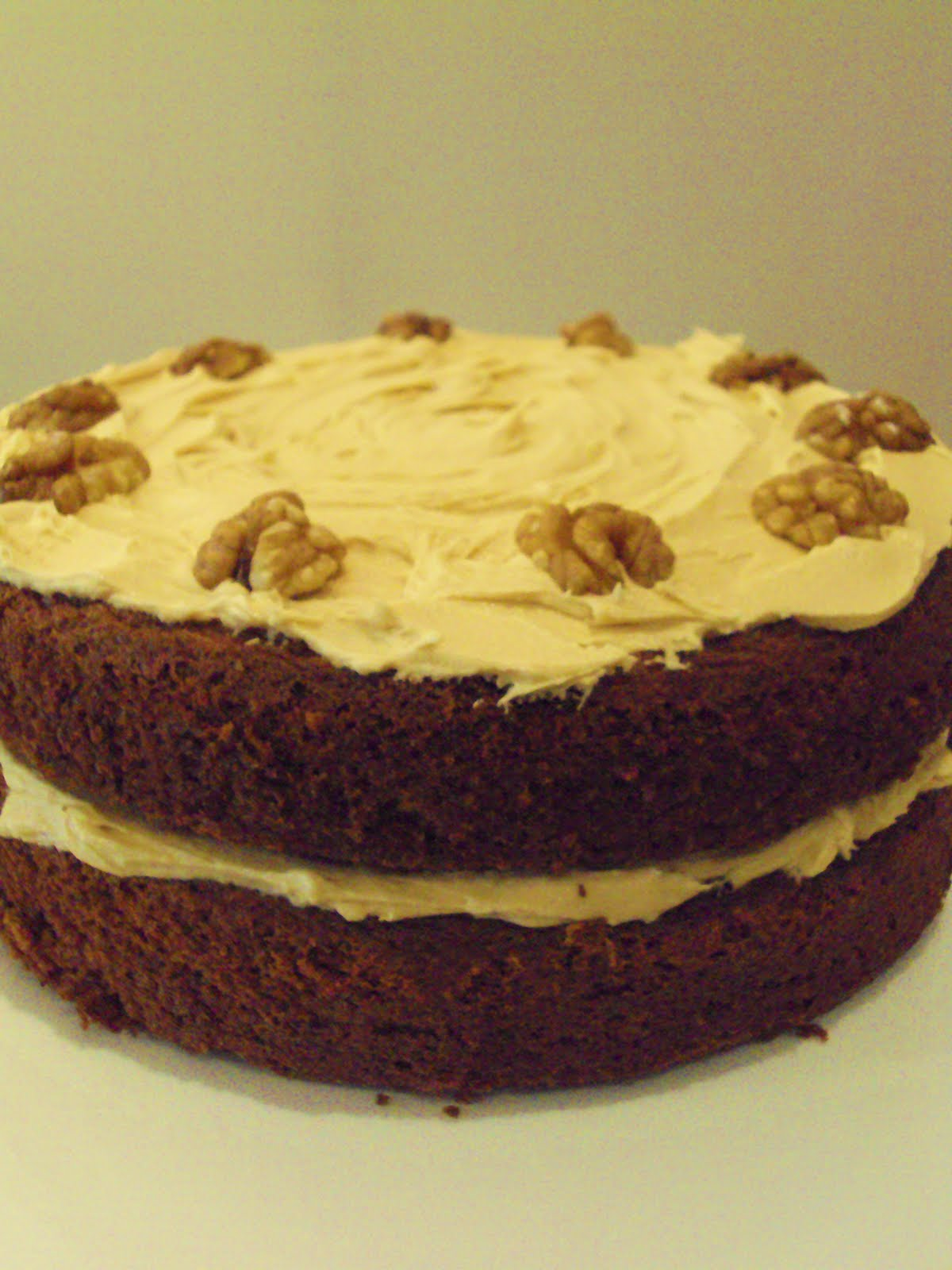 Coffee Walnut Layer Cake