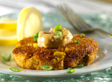 Corn Crab Cakes with Chipotle Mayonnaise