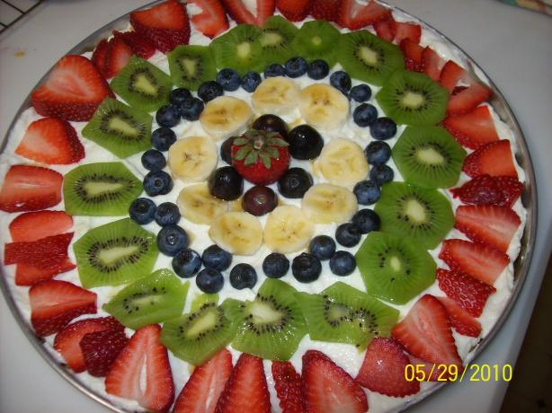 Corn Flakes Fruit Pizza