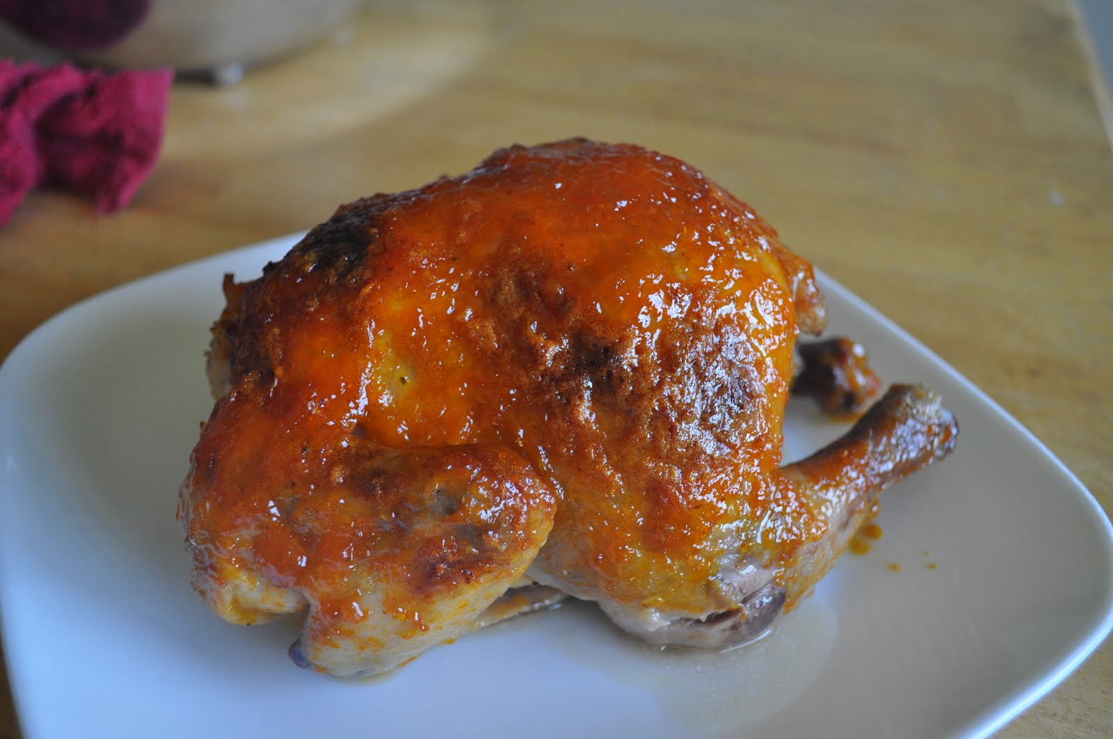 Roasted Apricot-Ginger Glazed Game Hens Recipe — Dishmaps