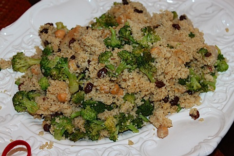 Couscous Salad With Broccoli and Raisins