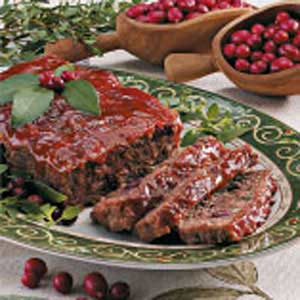 Cranberry Meatloaves