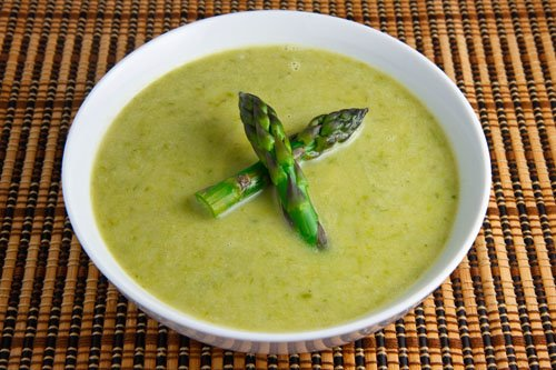 Cream of Asparagus Soup (vegan)