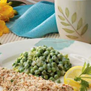 Creamed Celery and Peas