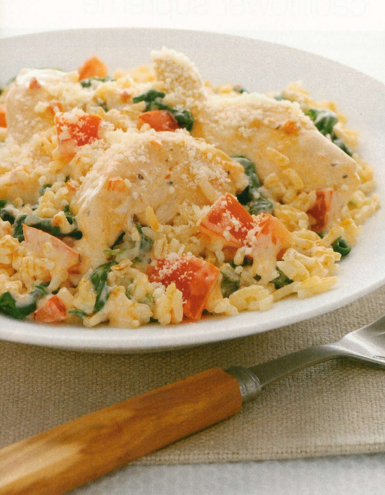Creamy Chicken, Spinach and Rice