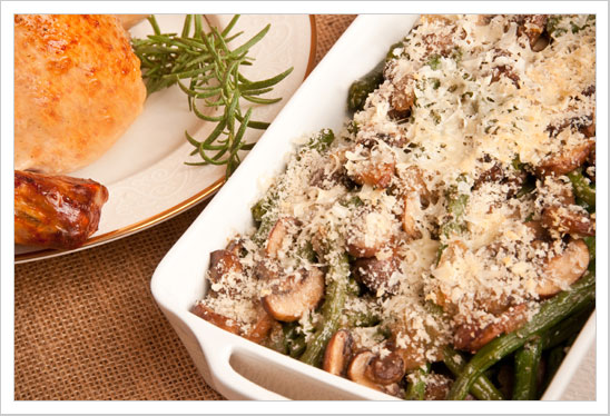 Creamy Green Bean Bake With Crumb Topping