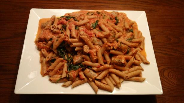 Creamy Pink Vodka Sauce with Penne