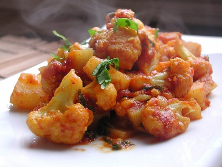 Curried Cauliflower and Potatoes