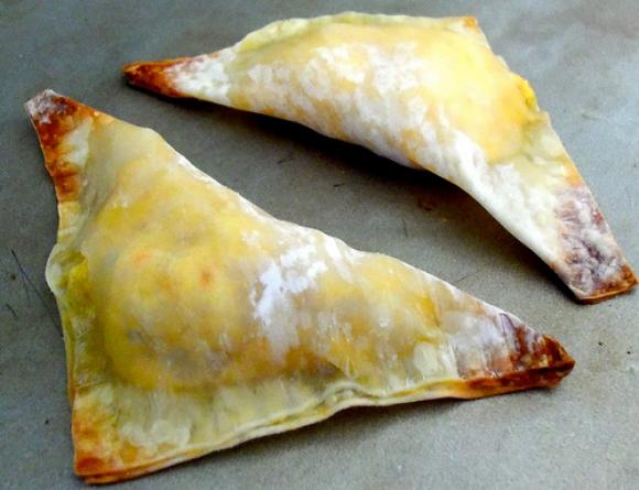 Curried Chicken Triangles