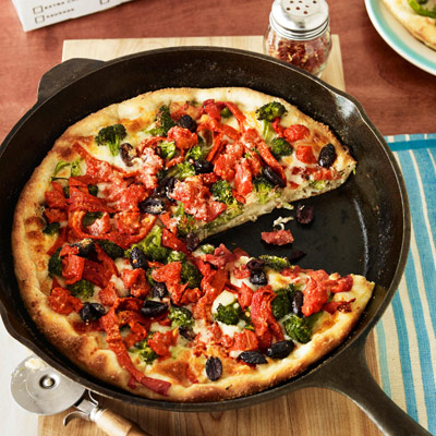 Deep-Dish Vegetable Pizza
