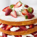 Diet Low Fat Strawberry Topped Cake