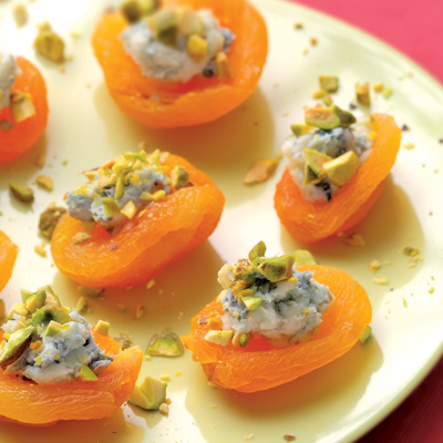 Dried Apricots With Blue Cheese