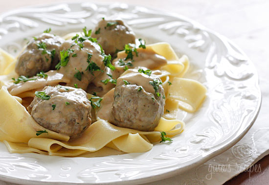 Easy All-In-One Crock Pot Meatballs With Gravy & Noodles