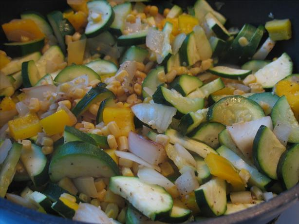Easy and Good Zucchini and Pepper Saute