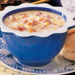 Easy Cheesy Ham Chowder
