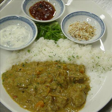 Easy Lamb Curry With Greens
