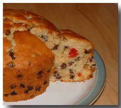 Easy Light Fruitcake