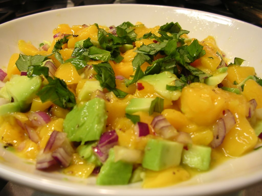 Easy Mango & Avocado Salsa