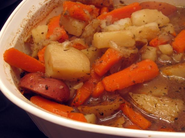 Easy Oven-Simmered Potatoes, Carrots and Onions