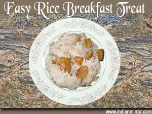 Easy Rice Breakfast Treat