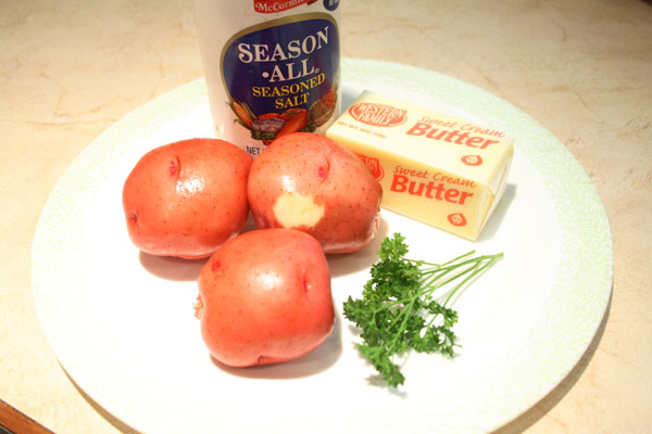 Easy Seasoned Parsley Potatoes