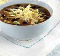 Easy Vegetarian Black Bean Tortilla Soup