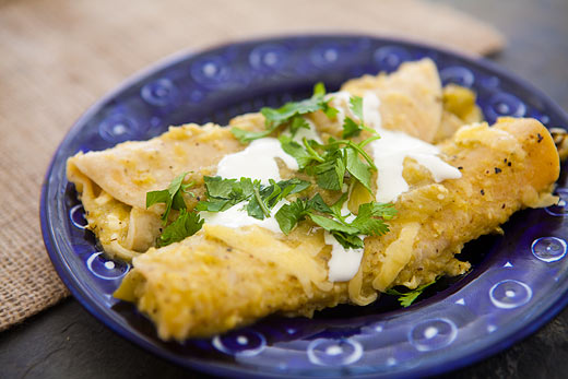 Egg and Green Chile Enchiladas
