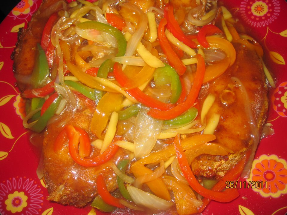 Escabeche with Papaya